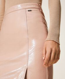 """Faux patent leather skirt """"Nude"""" Beige Woman 202ST2042-04"""