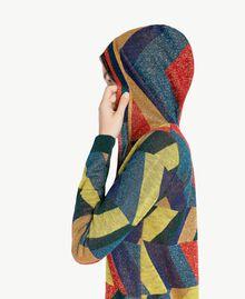 "Vestido de jacquard de lúrex Multicolor ""Jacquard Geométrico"" Femenino PA738S-04"