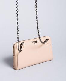 "Faux leather clutch bag with ruches ""Nude"" Beige Woman VA8PAR-03"