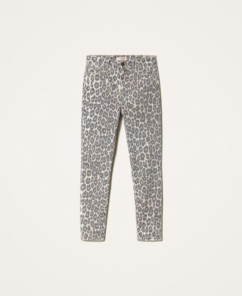 Pantalón con animal print Estampado Animal Print Nuez / Tabaco Mujer 202TT2443-0S