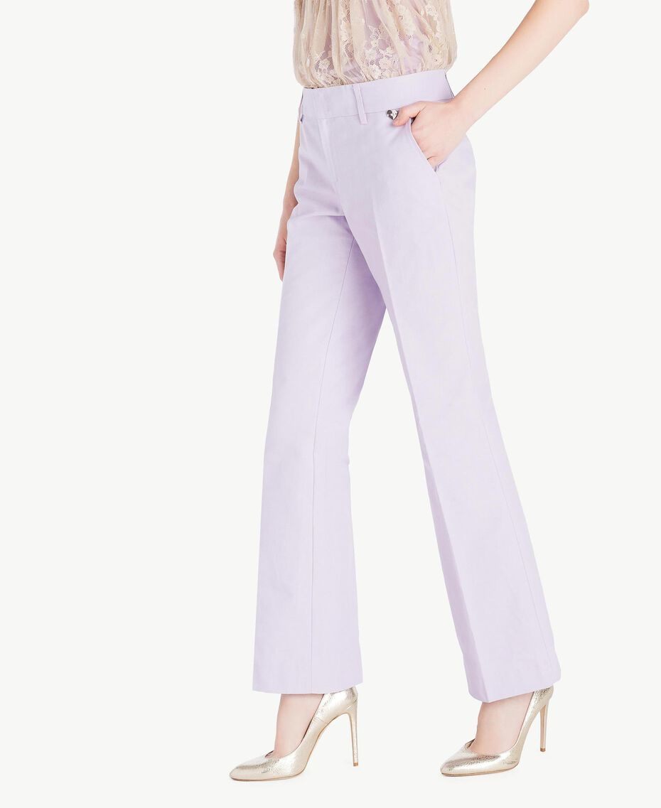 Canvas trousers Violet Woman PS824S-02
