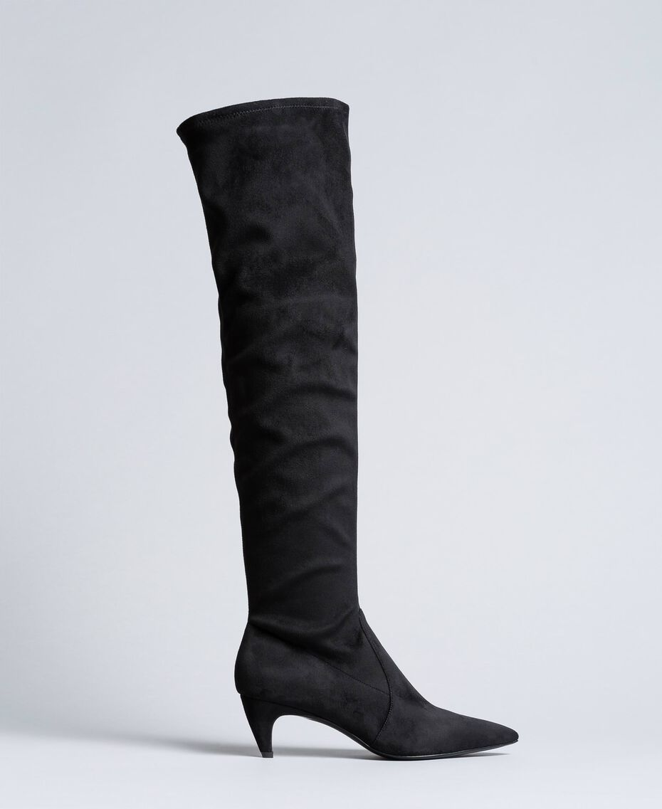 Fabric over-the-knee boots Black Woman CA8TDC-02