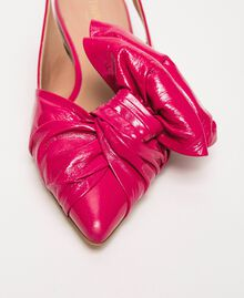 Patent leather ballerina pumps with bow Black Cherry Woman 201TCP110-02