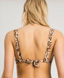 """Bügel-Bikinitop mit Blumenprint Motiv Tiere """"Petra Sandstone"""" Braun Frau 191LMMU55-04"""