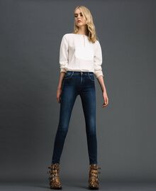 Push up jeans with five pockets Denim Blue Woman 192MT220H-02
