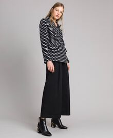 Veste blazer à pois Bicolore Noir / Blanc Femme 191MP2360-02