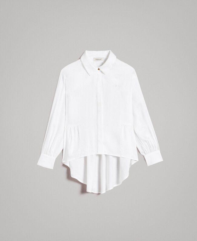 Satin asymmetric shirt Off White Child 191GJ2361-01