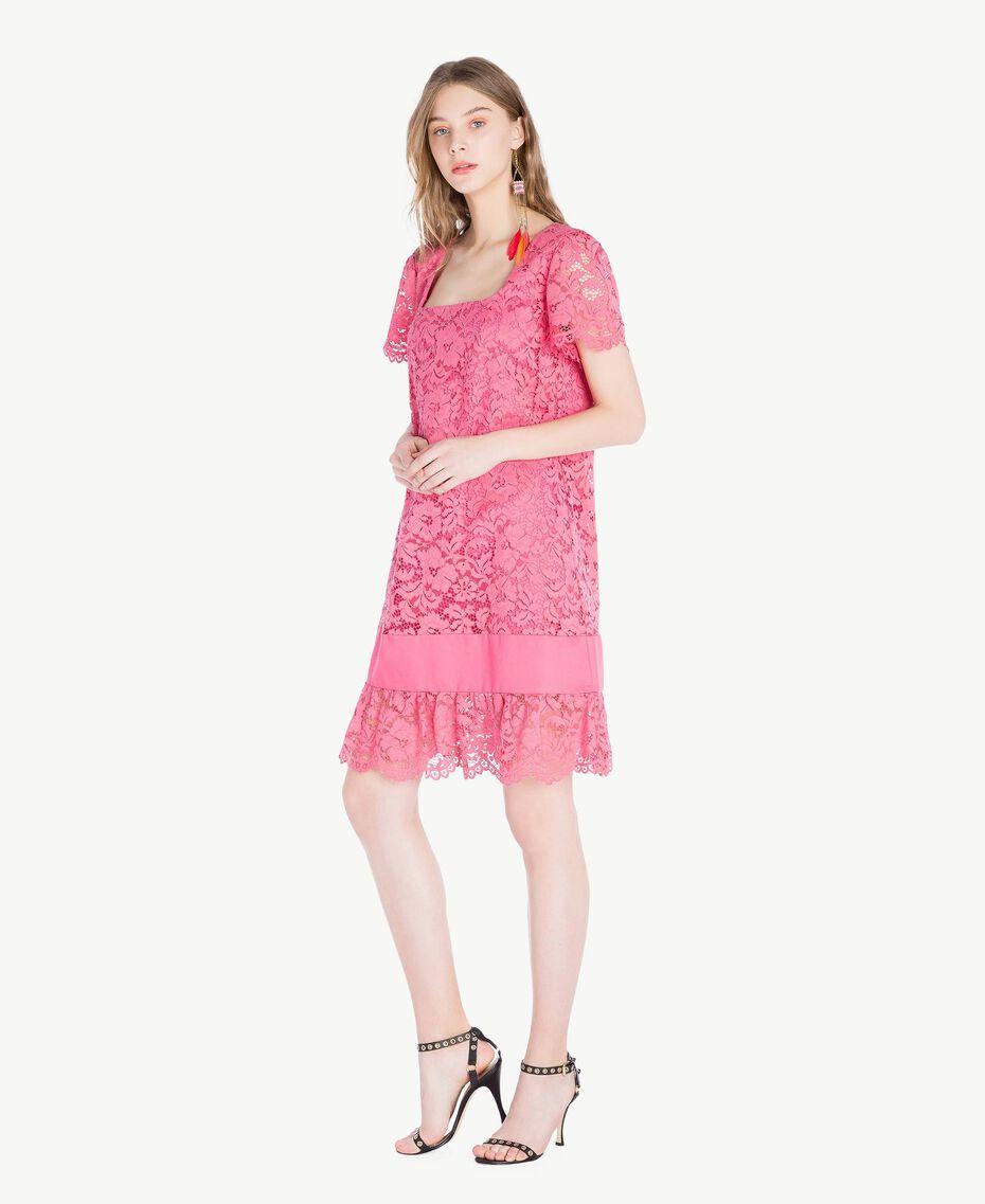 Kleid mit Spitze Provocateur Pink Frau TS828P-02