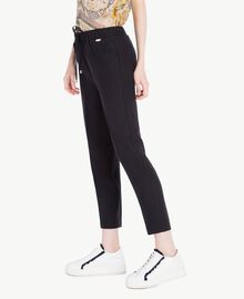 Cady drainpipe trousers Black Woman SS82AE-02