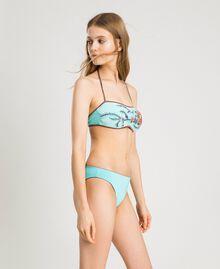 Bikinihose in Glanzoptik Hell Mousse Blau Frau 191LBM166-02