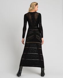Long openwork dress Black Woman 192TT3210-03