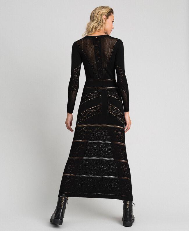 Robe longue ajourée Noir Femme 192TT3210-03