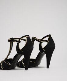 Sandali in pelle scamosciata Nero Donna 192TCT01G-02
