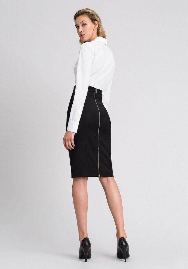 Midi skirt with slit