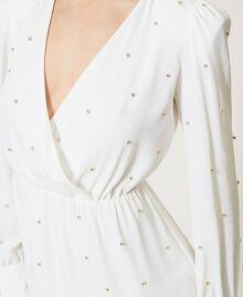 Платье с шатонами Слоновая кость женщина 211LM21EE-05
