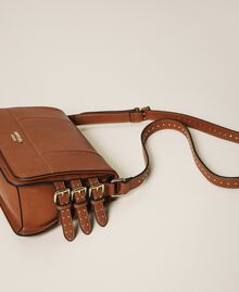 Shoulder bag with straps Leather Brown Woman 202MA7043-02