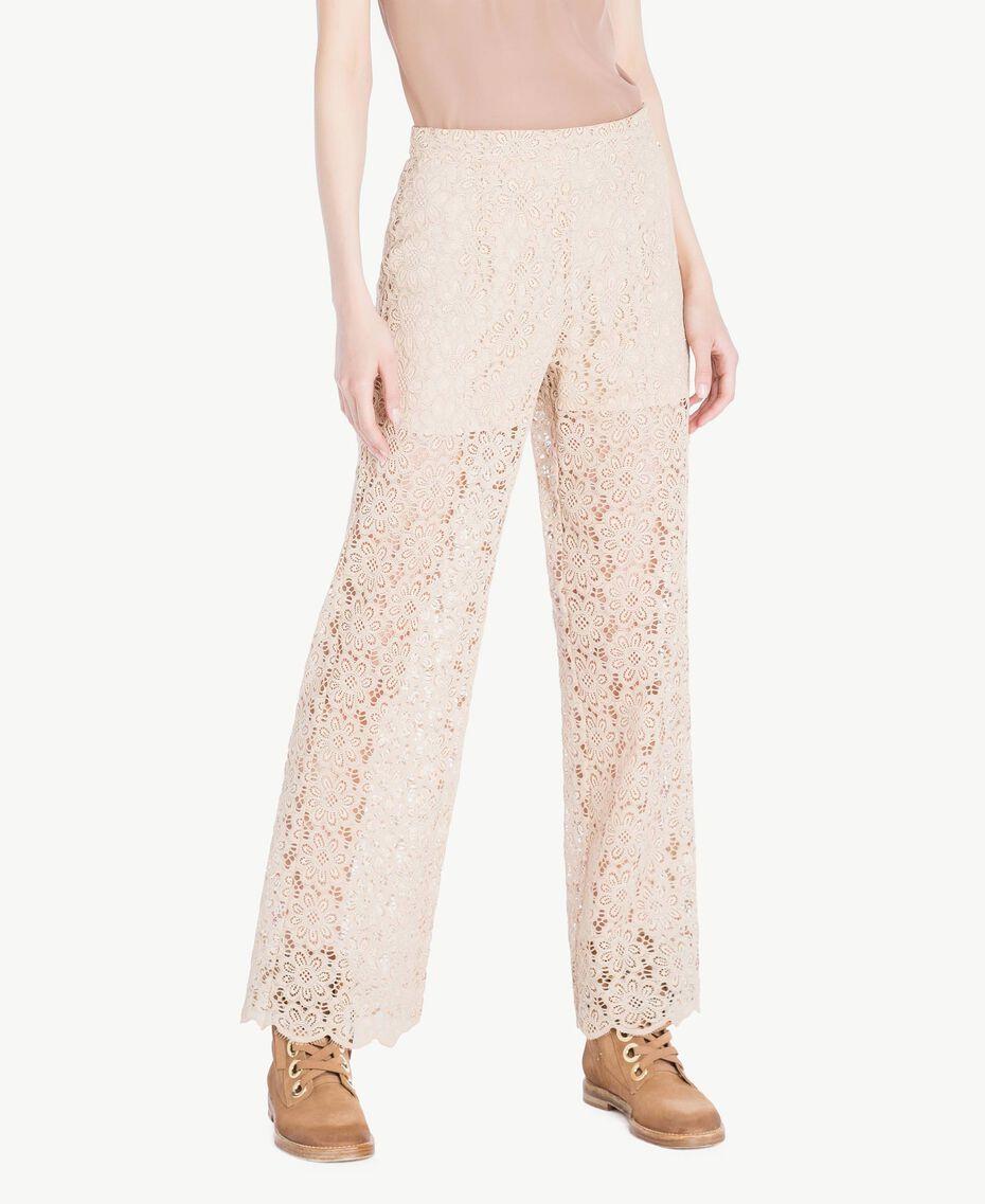 Lace palazzo pants Rope Woman SS82LH-01