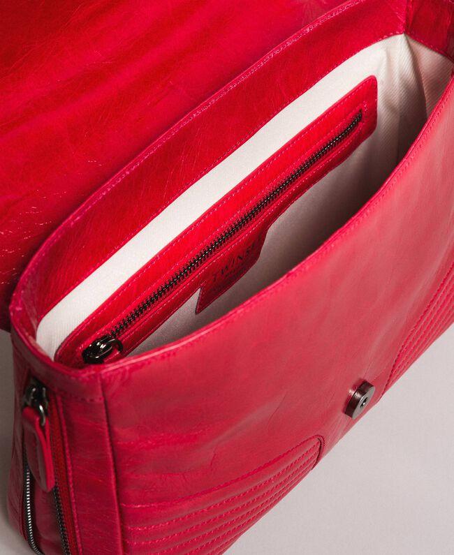 """Borsa a tracolla Rebel in pelle Rosso """"Ruby"""" Donna 191TA7233-05"""