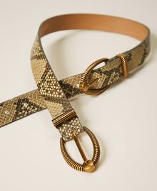 Animal print leather belt Pastel Skin Python Print Woman 202TO501A-02