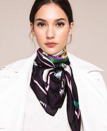 Платок с цветочным принтом Принт Платочный Черный женщина 201MA4303-0S