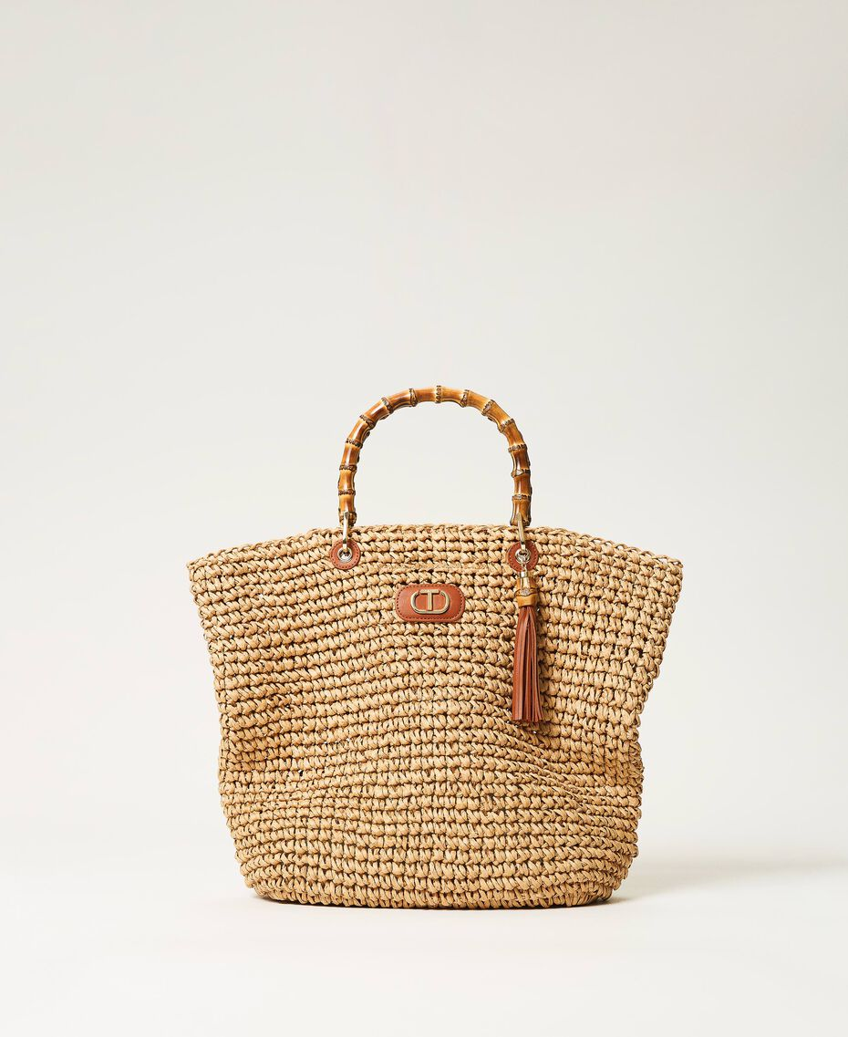 Weaved raffia shopper Straw Woman 211TD8240-01