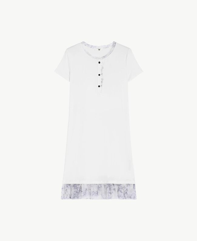 Nachthemd aus Jersey Elfenbein Frau LS8DJJ-01