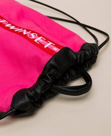 """Canvas sackpack with logo """"Jazz"""" Pink Woman 201TO8101-03"""
