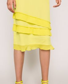 "Abito sottoveste in crêpe de Chine plissé Giallo ""Light Lemon"" Donna 201ST2015-04"