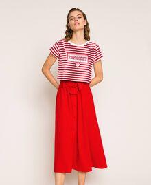 Jupe avec ceinture et boutons Rouge True Red Femme 201LM2BGG-01