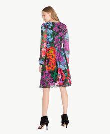 "Kleid mit Print ""Sixty Flower""-Print Frau TS824D-03"