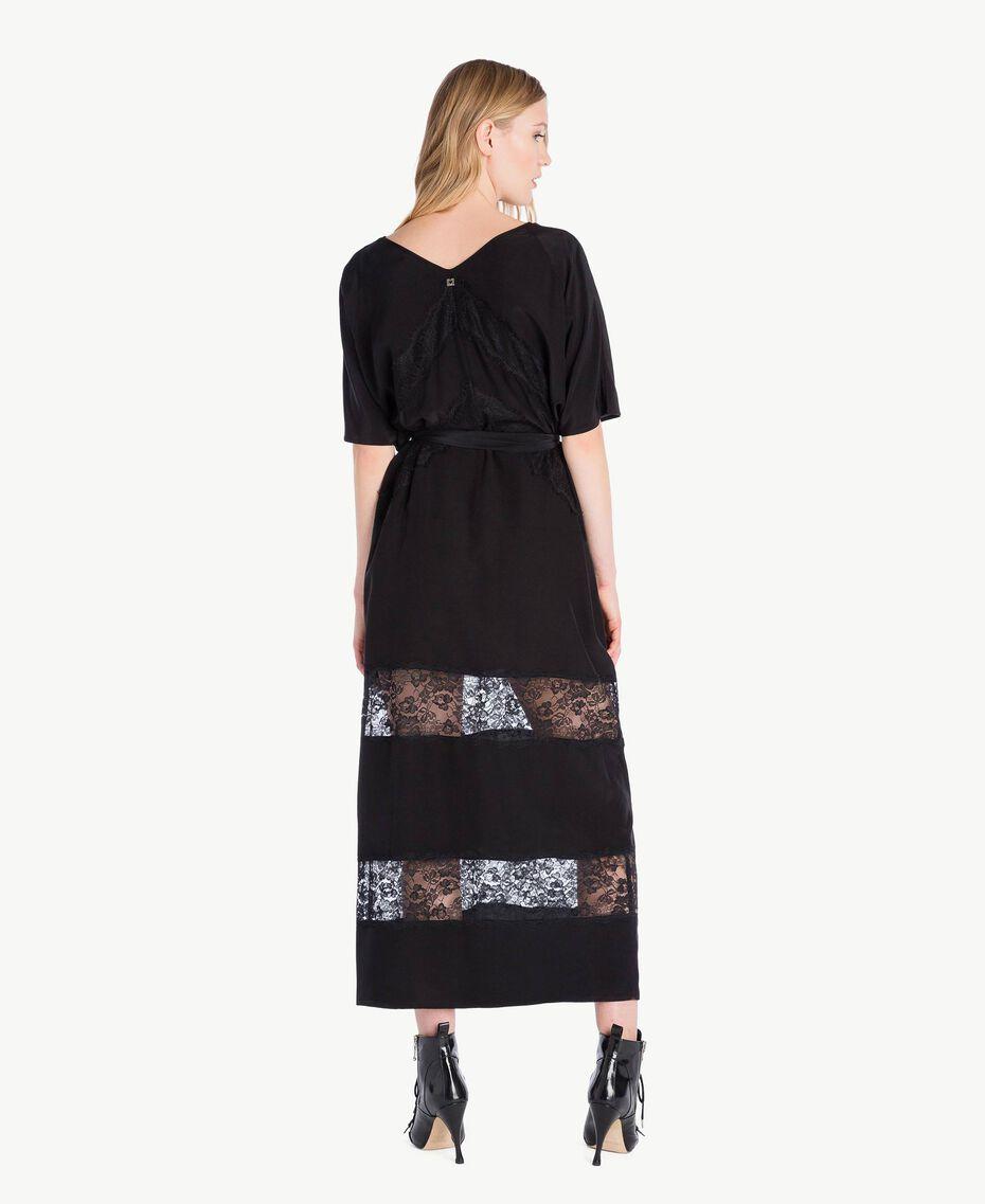 Long silk dress Black Woman PS82Z2-03