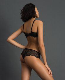 Culotte brésilienne en dentelle Noir Femme 192LL6C77-03