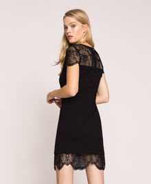 Robe fourreau avec dentelle Noir Femme 201TP212A-01