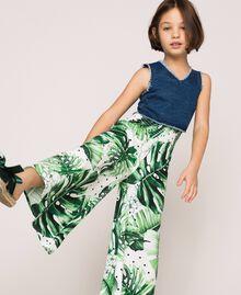 Hose mit Print Print Tropical Tupfen Grün Kind 201GJ2304-05