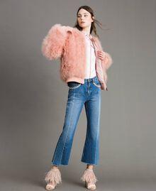 Sandales à talons hauts à plumes Rose Bouton Femme 191TCP210-0T