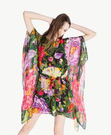 "Kaftan mit Blumenprint ""Summer Garden""-Print Frau TS824Q-04"
