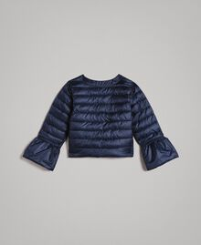 Ultra lightweight reversible puffer jacket Two-tone Indigo / Star Print Child 191GB2170-04