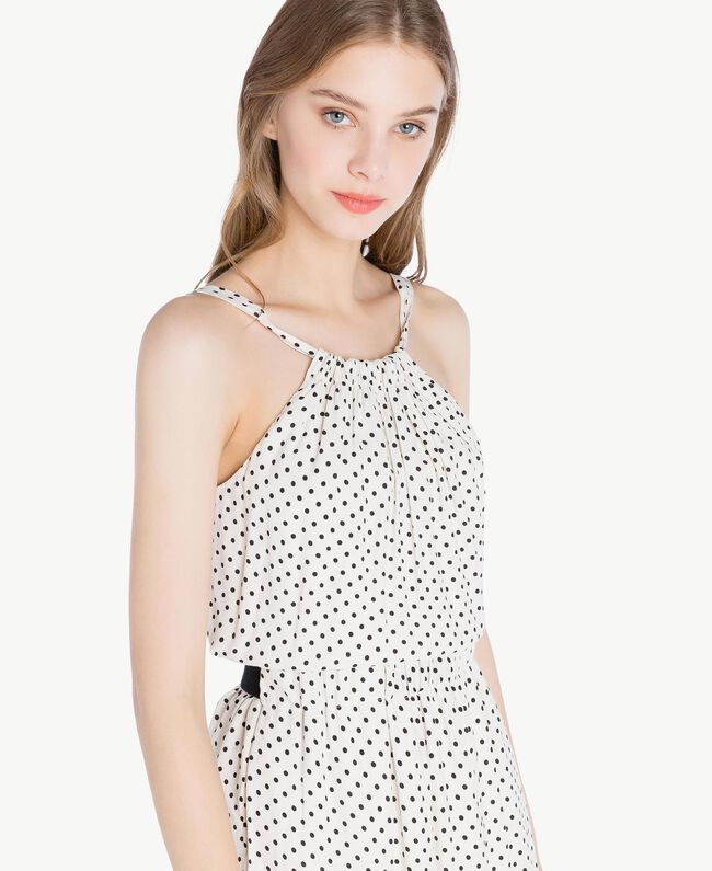 Polka dot dress Ivory Polka Dot Print / Black Woman PS82MP-04