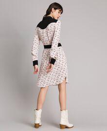 Robe chemisier avec imprimé flamants roses Imprimé Flamant Femme 191TP2760-03