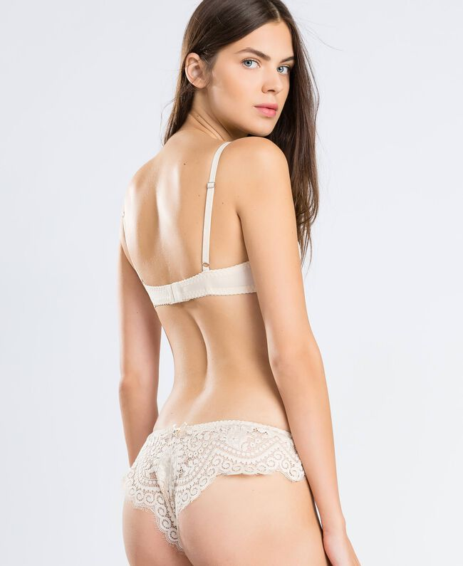 Scalloped lace underwire bra (D cup) Blanc Woman IA8C5D-03