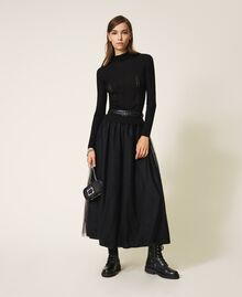 Faux leather belt Black Woman 202MA4353-0T