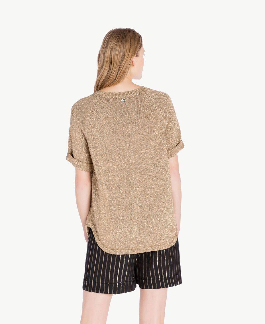 Pullover aus Lurex Lurex Kamelbraun Frau TS8331-03