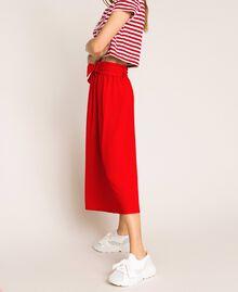 Jupe avec ceinture et boutons Rouge True Red Femme 201LM2BGG-02
