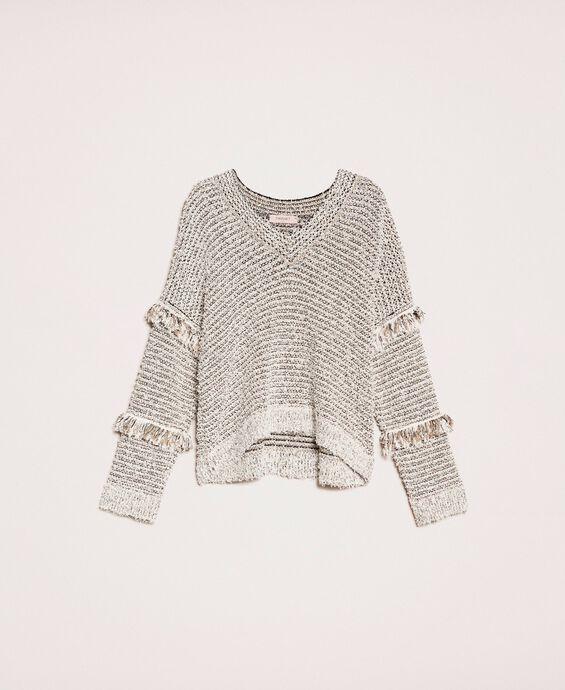 Twisted yarn jumper with lurex