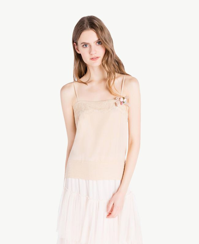 Silk top Ecrù Woman PS82EB-01