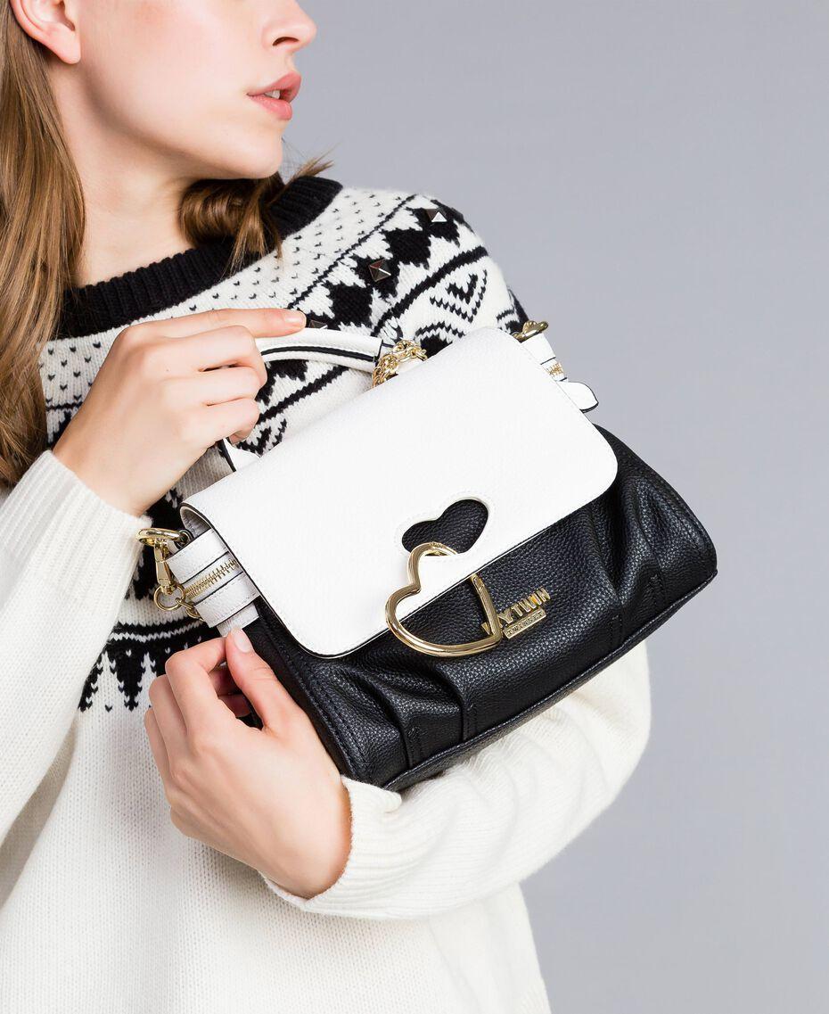 Petit sac Cécile avec cœur incrusté Bicolore Noir / Blanc Glace Femme VA8PA2-0S