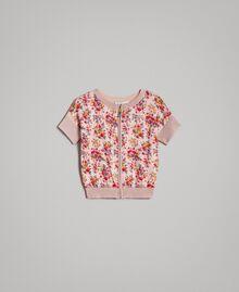 Cardigan-maglia in lurex a fiori Stampa Fiorellini Bambina 191GJ3050-01