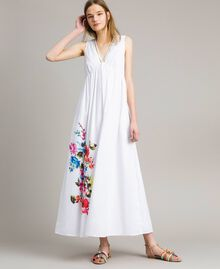 Long dress with print and studs White Woman 191MT2141-02