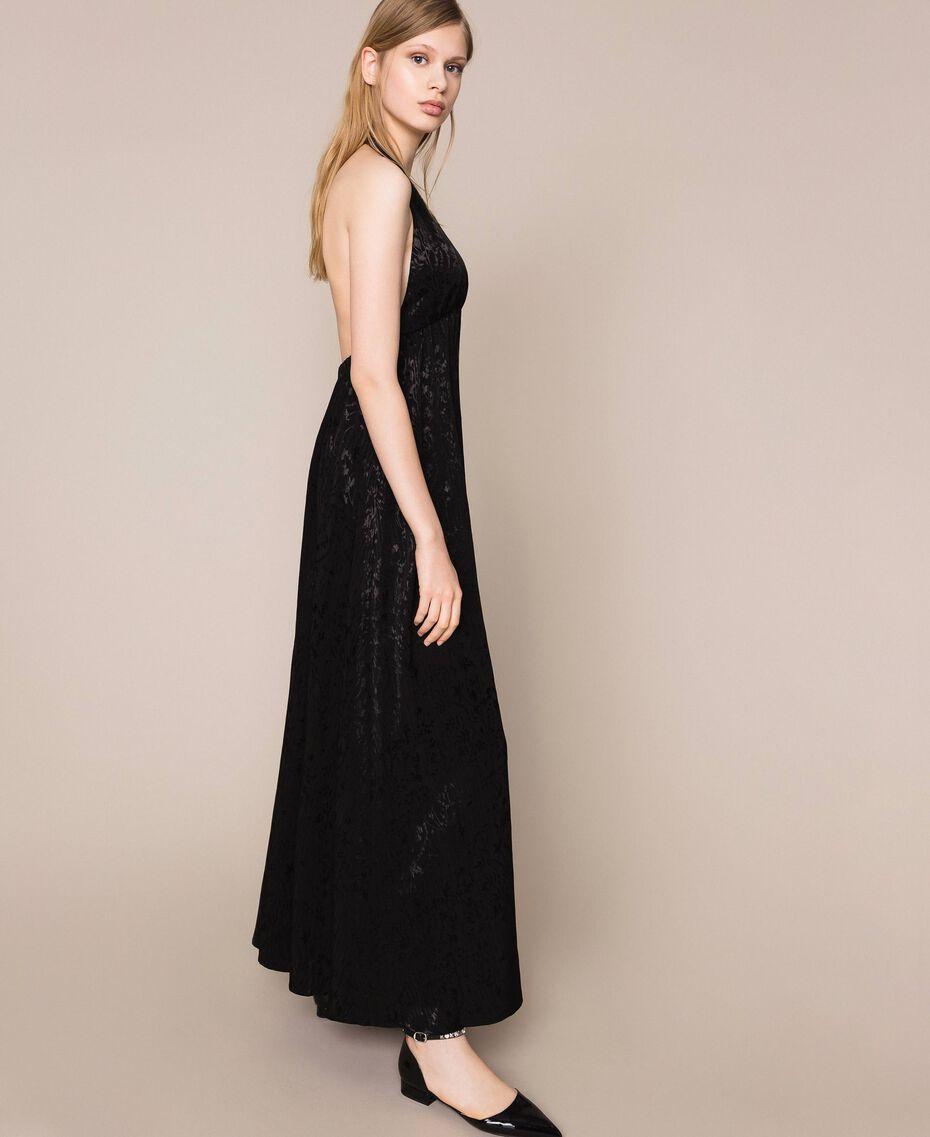 """Длинное платье с жаккардовым цветочным рисунком Оранжевый """"Витаминный"""" женщина 201LB2HAA-02"""