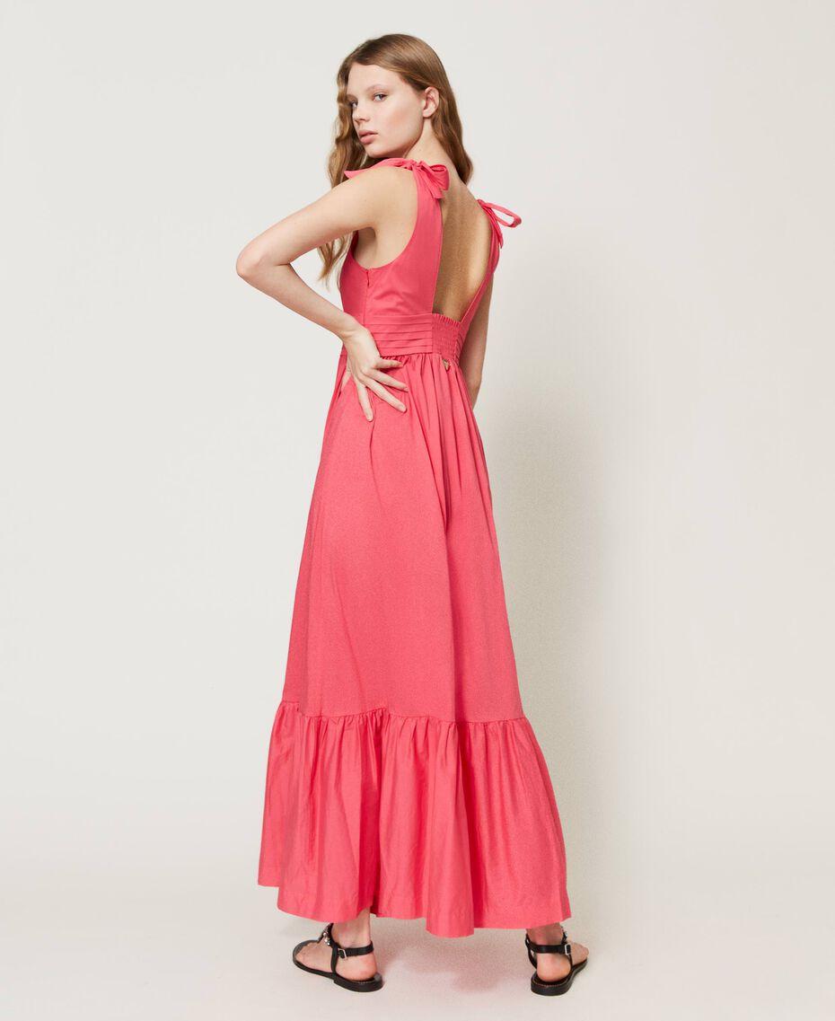 "Long poplin dress ""Cherry Pink"" Woman 211LM2EJJ-03"